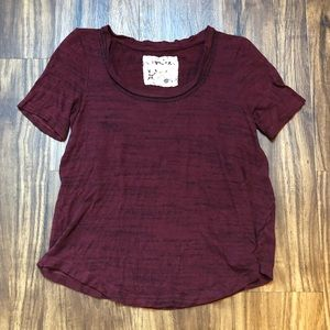 Anthropologie Pure + Good Cranberry Colored Shirt